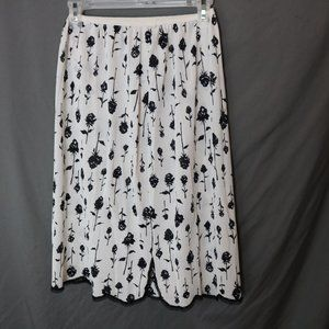 Vintage Black Rose Skirt Slip